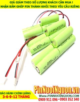 Pin sạc 6v AA1000mAh; Pin đèn Exit thoát hiểm 6v AA1000mAh; Pin đèn sự cố khẩn cấp 6v AA1000mAh; Pin sạc NiMh NiCd 6v AA1000mAh