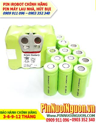 Pin máy hút bụi 14,4V2200mAh, Pin sạc NiMh-NiCd 14,4V2200mAh thay pin máy hút bụi các hãn,Thay cells ping | Đang có sẳn