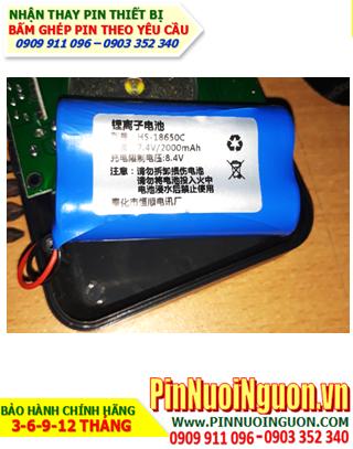 Pin loa Bluetooth 7.4V-2000mAh; Thay pin Pin loa Bluetooth 7.4V-2000mAh | BẢO HÀNH 3 THÁNG-CÒN HÀNG