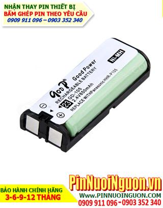 Pin điện thoại bàn không dây 2,4V GOOP GD-105,HHR-P105 - 2.4V-850mAh chính hãng Goop China| Bảo hành 6 tháng