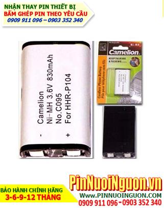 Pin điện thoại bàn không dây 3,6v HHR-P104, C095 chính hãng Camelion Đức | hàng có sẳn-Bảo hành sử dụng 6 tháng
