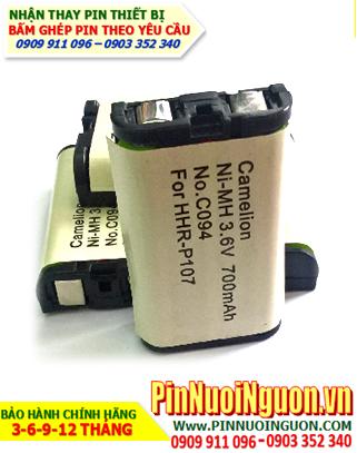 Pin điện thoại bàn không dây 3,6v Cordlessphone HHR-P107, C095 - 700mAh chính hãng Camelion Đức | hàng có sẳn-Bảo hành 6 tháng