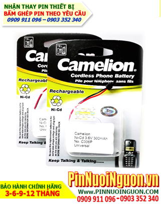 Pin Điện thoại bàn không dây 3,6v Camelion C306-300mAh chính hãng | hàng có sẳn-Bảo hành 6 tháng