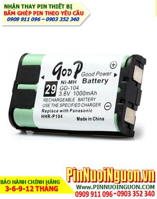 Pin điện thoại bàn không dây 3,6v GODP GD-104 NIMH Recharge Battery 3,6V chính hãng| tạm hết-Đặt hàng trước
