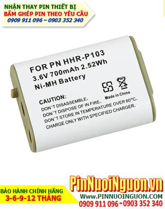HHR-P103: Pin điện thoại bàn, Thay cells Pin điện thoại Cordless phone HHR-P103/AAA700mAh-3.6V/hàng có sẳn