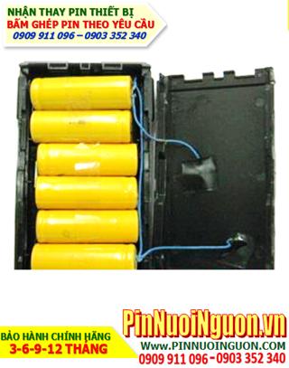 Pin máy bộ đàm 7.2V-2200mAh , thay cells pin đóng thành khối như hình   bảo hành sử dụng 06 tháng