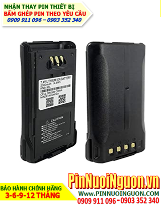 Pin máy bộ đàm kenwood 7.4V-2500mAh, thay cells pin/ hàng có sẳn - bảo hành 03 tháng