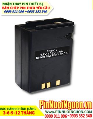 Pin máy bộ đàm Yaesu 12V-1000mAh, thay cells pin/ hàng có sẳn - bảo hành 03 tháng