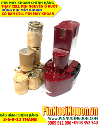 Pin sạc NiMh 9.6v 2000mAh _Pin máy khoan BC-96D (9.6V-2000mAh) _Thay pin Máy khoan BC-96D (9.6V-2000mAh)