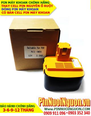 Pin máy khoan PANASONIC 12v-2.0AH (2000mAh) Pin sạc NiMh NGUYÊN VỎ HỘP chính hãng| Bảo hành 6 tháng-Hàng có sẳn