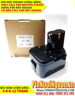 Pin máy khoan HITACHI 12v-2.0AH (2000mAh) Pin sạc NiMh NGUYÊN KHỐI VỎ HỘP | Bảo hành 6 tháng-HÀNG CÓ SẲN