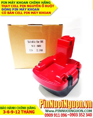 Pin máy khoan BOSCH 12v-2.0AH (2000mAh) - Pin sạc NiMh chính hãng NGUYÊN KHỐI VỎ HỘP| Bảo hành 6 tháng-HÀNG CÓ SẲN