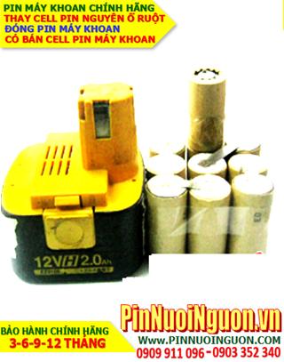 Pin máy khoan cầm tay 12v-SC2000mAh NiMh/NiCd chính hãng| Bảo hành sử dụng 6 tháng