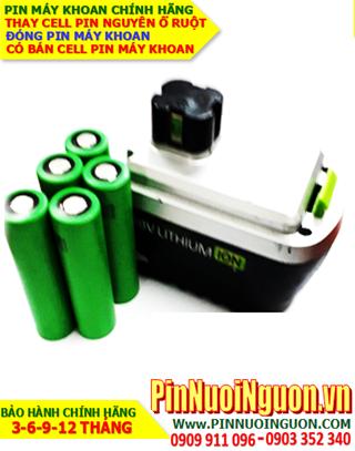 Pin máy khoan OZITO 18v-1.5AH (1500mAh)_Thay CELLS pin máy khoan OZITO 18v-1.5AH LIthium LI-ION (Bảo hành 3 tháng)