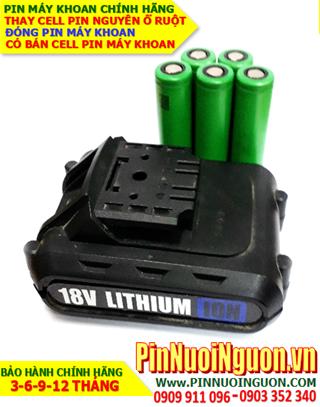 Pin máy khoan XU1 18v 2.6AH (2600mAh)-Pin sạc Lithium Li-Ion chính hãng| HÀNG CÓ SẲN