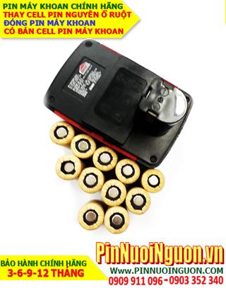 Pin sạc NiMh 18v 2200mAh _Pin máy khoan JOBMATE 18V-2000mAh _Thay CELL pin máy khoan JOBMATE 18V-2000mAh