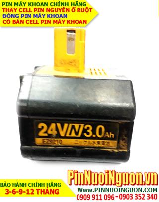 Pin máy khoan Bê Tông - Pin sạc NiMh 24V-3.0AH (3000mAh) - Thay Cell pin Máy khoan Bê tông| CÓ SẲN PIN