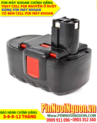 Pin máy khoan Bosch 24V-2000mAh, thay cells pin / hàng có sẳn- bảo hành 06 tháng