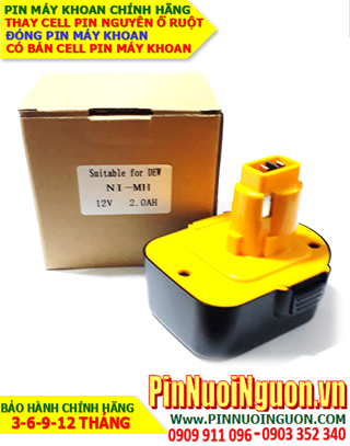 Pin máy khoan Dewalt 12V-2100mAh, thay cells pin / hàng có sẳn-bảo hành 06 tháng