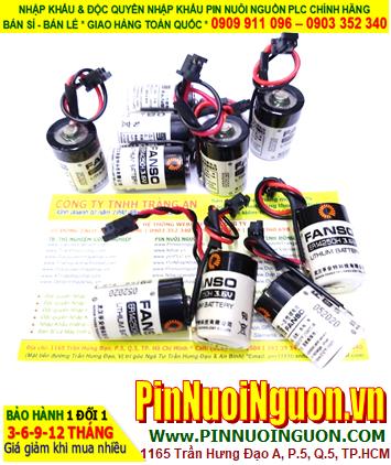 FANSO ER14250H; Pin nuôi nguồn PLC FANSO ER14250H (Zắc đen như hình) lithium 3.6v 1/2AA 1200mAh chính hãng