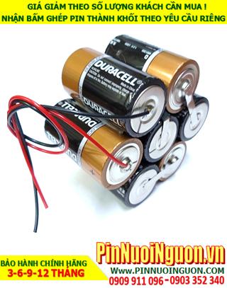 Pin Alkaline 10.5v-15000mAh; Pin khối công nghiệp Alkaline Duracell 10.5v-15000mAh chính hãng
