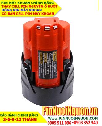Pin máy khoan Milwaukee 12V-1500mAh, thay cells pin / hàng có sẳn - bảo hành 06 tháng