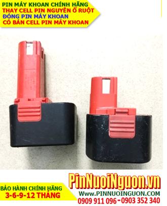 Pin sạc 9.6v-1300mAh; Pin máy khoan tay National 9.6v-1300mAh _Thay CELL pin máy khoan National 9.6v-1300mAh