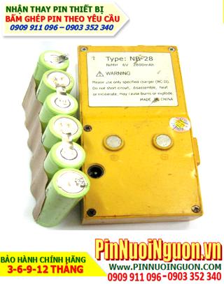 Pin máy trắc địa Topcon NB-28 (2800mAh-6V)- Thay cells pin máy trắc địa Topcon | Bảo hành 6 tháng-Có sẳn hàng