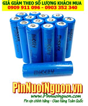 Pin sạc 3.7v Mickey 18650 - 1500mAh LIthium Li-Ion chính hãng, Chỉ sử dụng cho đèn pin siêu sáng| HẾT HÀNG