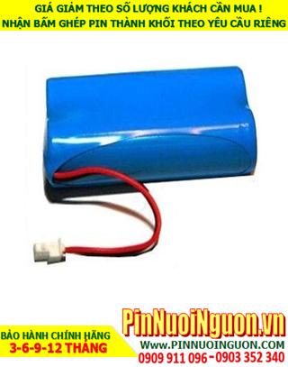 Pin sạc Lithium 7.4v-2200mAh; Pin sạc khối Lithium Li-ion 7.4v-18650-2200mAh chính hãng| CÒN HÀNG