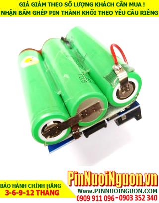 Pin sạc 11.1v-3200mAh Lithium; Pin sạc khối Lithium Li-ion 11.1v-18650-3200mAh chính hãng| CÒN HÀNG