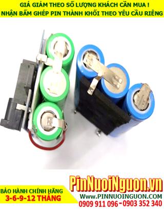 Pin sạc 11.1v-2500mAh Lithium; Pin sạc khối Lithium Li-ion 11.1v-18650-2500mAh chính hãng| CÒN HÀNG