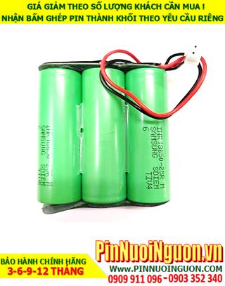 Pin sạc Lithium 11.1v-2600mAh; Pin sạc khối Lithium Li-ion 11.1v-18650-2600mAh chính hãng| CÒN HÀNG