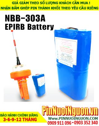Pin phao cứu sinh nghành hàng hải NBB-303A EPIRB 11,2V-10AH; Pin sạc Lithium Li-ion 11.2v-10 000mAh | CÒN HÀNG