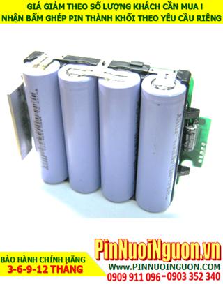 Pin sạc Lithium 14.8v-2600mAh; Pin sạc khối Lithium Li-ion 14.8v-18650-2600mAh chính hãng  HÀNG CÓ SẲN