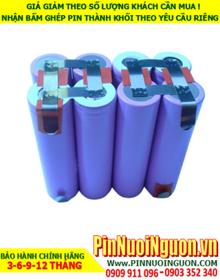 Pin sạc Lithium 14.8v-5200mAh; Pin sạc khối 14.8v-18650-5200mAh chính hãng  HÀNG CÓ SẲN
