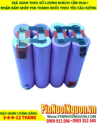 Pin sạc Lithium 14.8v-6400mAh; Pin sạc khối Lithium 14.8v-18650-6400mAh chính hãng  HÀNG CÓ SẲN