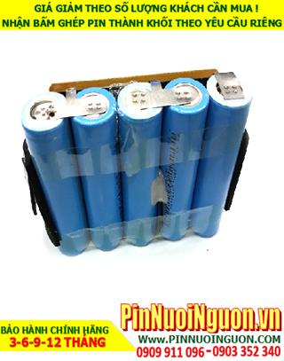 Pin sạc lithium 18v-2200mAh; Pin sạc khối Lithium Li-ion 18v-18650-2200mAh| HÀNG CÓ SẲN