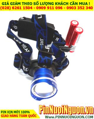 Đèn pin đội đầu siêu sáng SS-2190, bóng CREE LED T6 ( vỏ màu xanh)  | Bảo hành 6 tháng - HÀNG CÓ SẲN