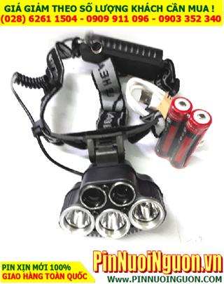 Đèn pin đội đầu siêu sáng DPNK-5001 với 5 bóng LED đặc biệt  như hình (CÓ SẲN HÀNG)