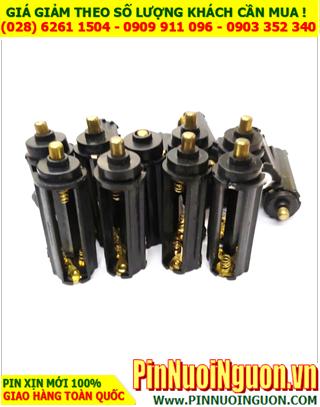 Ổ Pin - Ổ chứa 3 pin AAA dùng bỏ đèn pin hoặc thiết bị điện | HÀNG CÓ SẲN