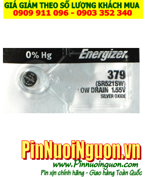 Pin SR521SW _Pin 379; Pin đồng hồ Energizer SR521SW 379 Silver Oxide 1.55v _Made in USA