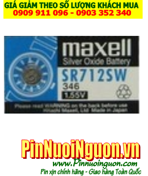 Pin SR712SW _Pin 346; Pin Maxell SR712SW 346 silver oxide 1.55v_Made in Japan