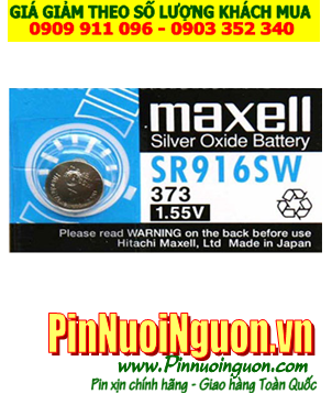 Pin SR916SW _Pin 373; Pin Maxell SR916SW 373 silver oxide 1.55v _Made in Japan