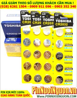 COMBO 1HỘP 20vỉ Pin Toshiba CR2032 lithium 3.0v _Giá chỉ 959.000đ/HỘP100viên