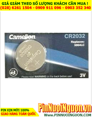 Pin CR2032 _Pin Camelion CR2032 ECR2032 ; Pin 3v lithium Camelion CR2032 _Made in China _viên