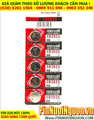 COMBO 1vỉ 5viên Pin Maxell CR2025 lithium 3v _Giá chỉ 39.000vnd/ Vỉ 5viên