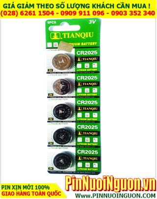 COMBO 1vỉ 5viên Pin Tianqiu CR2025 lithium 3.0v _Giá chỉ 32.000vnd/ Vỉ