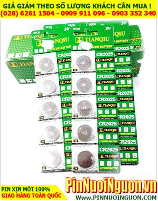 COMBO 1HỘP 20vỉ (100viên) Pin Tianqiu CR2025 _Giá chỉ 498.000/HỘP 100viên