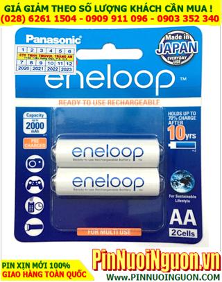 Pin sạc Panasonic Eneloop BK-3MCCE/2BT; Pin sạc AA 1.2v Panasonic Eneloop BK-3MCCE/2BT (AA1900mAh) _Vỉ 2viên